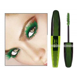 Music Flower Thick Lash Curl Long Lasting Mascara -- Forest Green