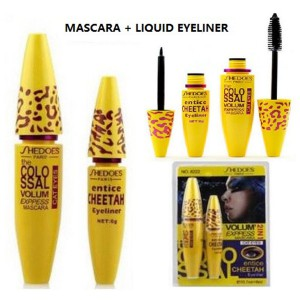 SHEDOES Cat Eyes Thick Curl Lash Volum Express Black Mascara + Liquid Eyeliner