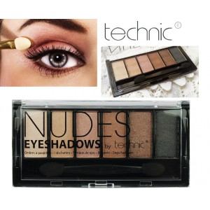 Technic NUDES  6 Colours Eyeshadow Palette