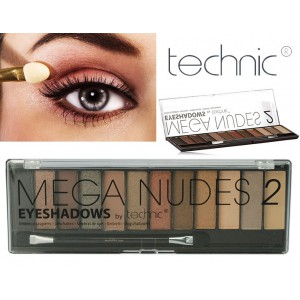 Technic 12 Colours MEGA NUDES 2 Eyeshadows Palette