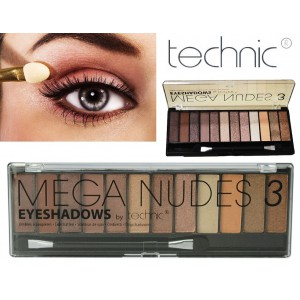Technic 12 Colours MEGA NUDES 3 Eyeshadows Palette