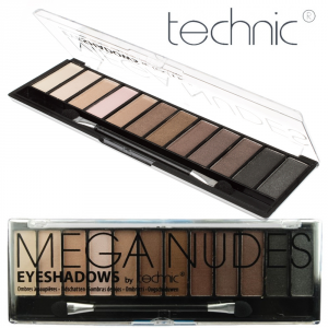 Technic MEGA NUDES 12 Colours Eyeshadows Palette