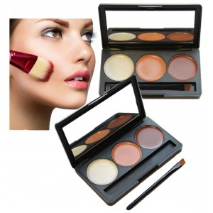 LyDia 3 Colours Concealer Highlighter Contour Palette