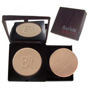 Baolishi Compact Foundation Powder - 02 Light Natural Beige