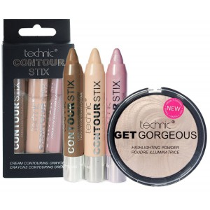Technic Contour Stix Contouring Set + Get Gorgeous Highlighter Compact Powder