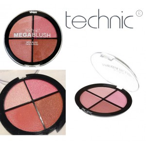 Technic Mega Shimmering Blush Quad