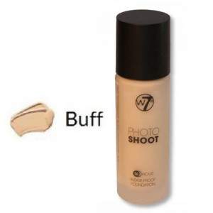 W7 Photo Shoot 16 Hour Budge Proof Glass Bottle Foundation 28ml -- Buff