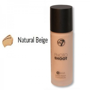 W7 Photo Shoot 16 Hour Budge Proof Glass Bottle Foundation 28ml -- Natural Beige