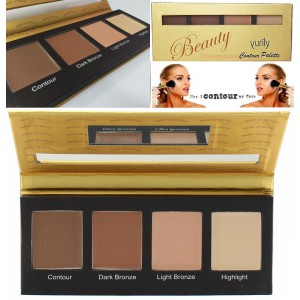 Yurily Cream Face Contour Dark/Light Bronzer Highlighter Palette