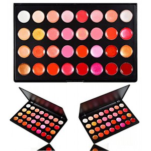 LyDia 32 Colours Shimmer/Matte Lip Gloss/Cream Blush Palette