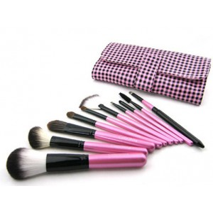 LyDia 10pcs Pink Makeup Brush Set