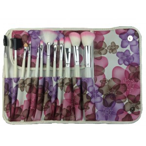 LyDia 12pcs Pink In Bloom Makeup Brush Set