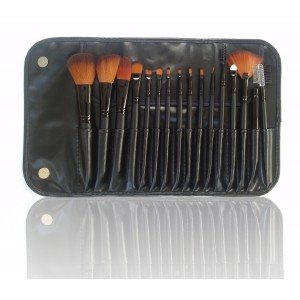 LyDia 16pcs Black Makeup Brush Set