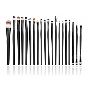 LyDia 20pcs Black Eye Brush Set