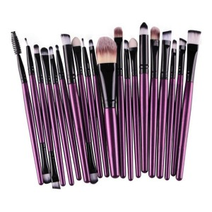 LyDia 20pcs Purple-Black Eye Brush Set
