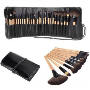LyDia 32pcs Eco-Friendly Wooden Makeup Brush Set