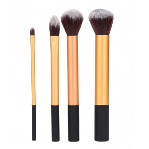LyDia 4pcs Essential Gold Makeup Brush Set