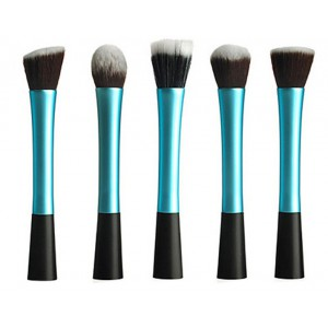 LyDia 5pcs Blue Makeup Brush Set