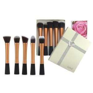 LyDia 5pcs Gold Brush Set with Cream Gift Box