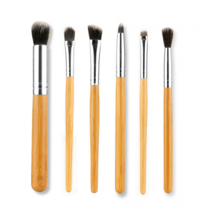 LyDia 6pcs Eco-Friendly Bamboo Handle Eye Makeup Brush Set