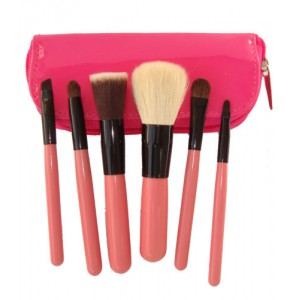 Lydia 6pcs Pink Studio Collection Mini Makeup Brush Set