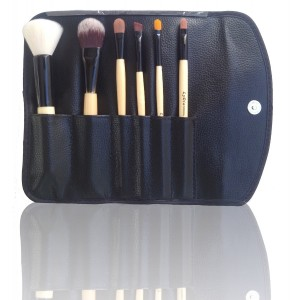 LyDia 6pcs Eco-Friendly Luxury Natural Wooden Makeup Brush Set