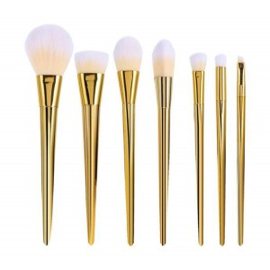 LyDia 7pcs Gold Essential Makeup Brush Set