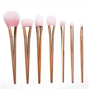 LyDia 7pcs Rose-Gold Essential Makeup Brush Set