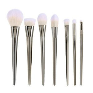 LyDia 7pcs Silver Essential Makeup Brush Set