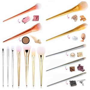 LyDia 7pcs Gold/Silver/Rose-Gold Essential Makeup Brush Set