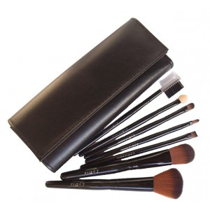 LyDia 7pcs Black Makeup Brush Set