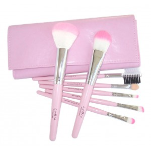 LyDia 7pcs Pink Makeup Brush Set