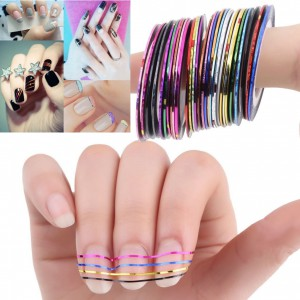 LyDia 12pcs Mixed Colours Rolls Nail Art Tapes