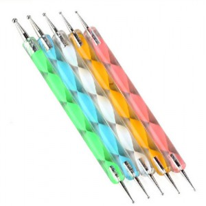 LyDia 5pcs Double-Ended Nail Art Dotting Pen - Crystal