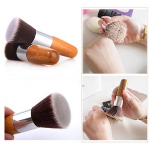 LyDia Eco-Friendly Flat Top Buffer Bamboo Brush
